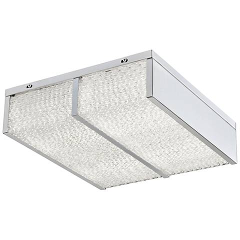 "Varaluz Twisted Sistah 12"" Wide Chrome LED Ceiling Light"