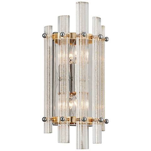 "Corbett Sauterne 15"" High Gold Leaf 2-Light Wall Sconce"