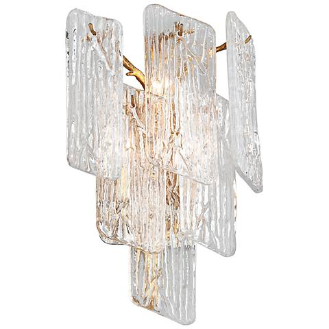"Corbett Piemonte 17 1/4"" High Royal Gold Wall Sconce"