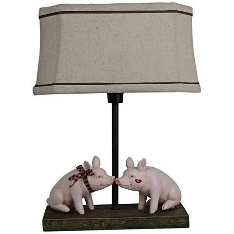 Pig Love Paint Accent Table Lamp