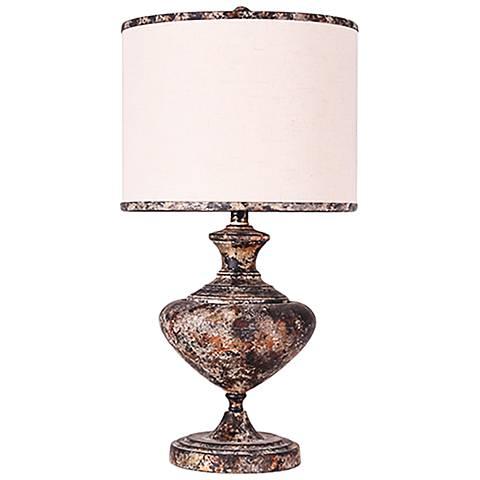 Madrid Ovid Unit Bronze Metal Table Lamp