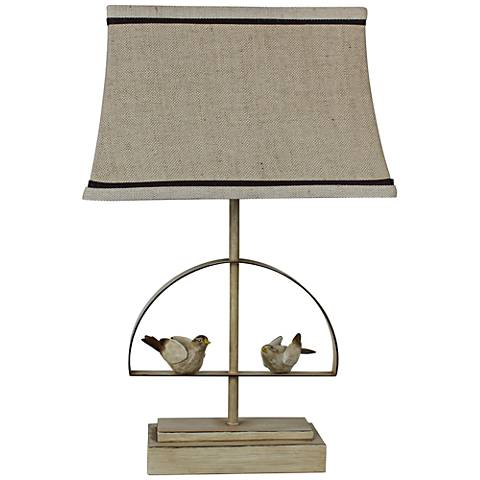 Bird Swing Taupe Accent Table Lamp