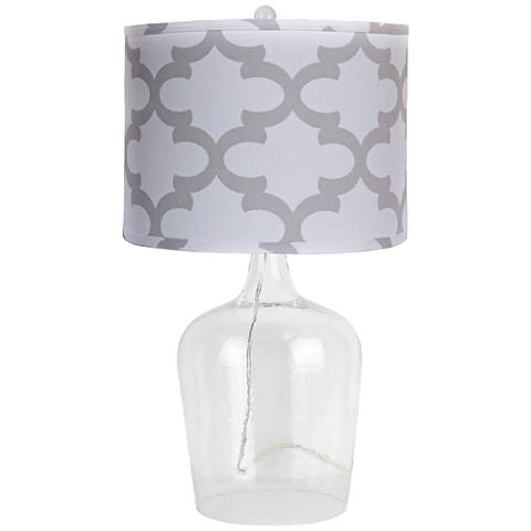 Cordoba Clear Glass Table Lamp
