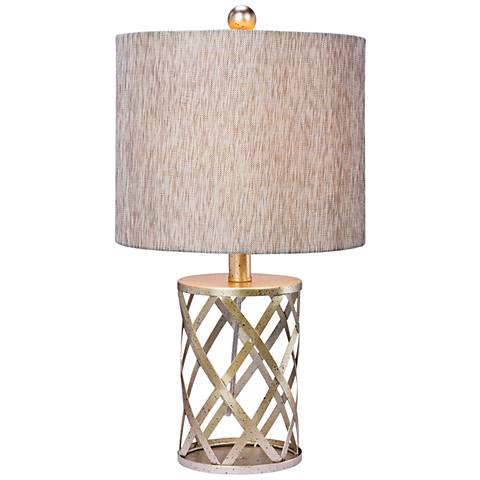 Cordova Antique Gold Metal Accent Table Lamp