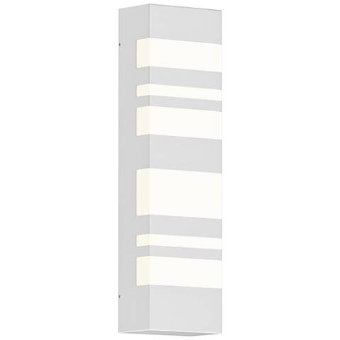 "Sonneman Bath Notes 18"" High Satin White LED Wall Sconce"