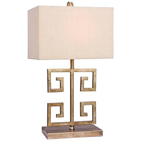 Arta Antique Gold Metal Accent Table Lamp