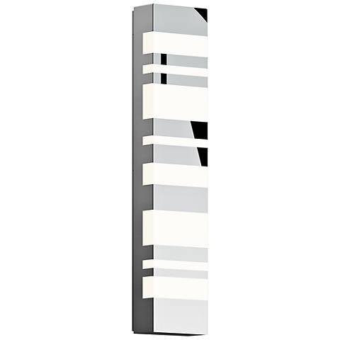 "Sonneman Bath Notes 24"" High Polished Steel LED Wall Sconce"