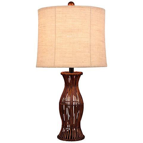 Zosia Brown Rattan Table Lamp