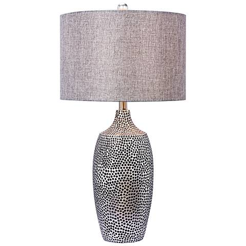 Dia Dark Silver Table Lamp