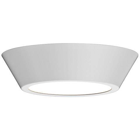 """Sonneman Oculus 10"""" Wide Satin White LED Ceiling Light"""