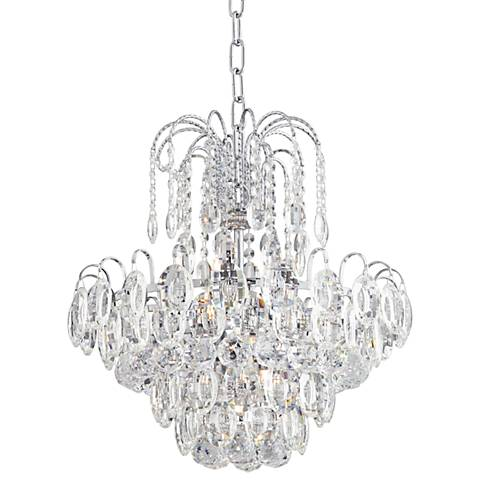 "Diraza 16 1/2"" Wide Chrome Crystal Chandelier"