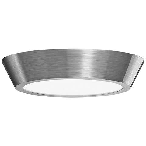 "Sonneman Oculus 13"" Wide Satin Nickel LED Ceiling Light"