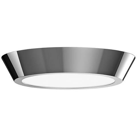 """Sonneman Oculus 16"""" Wide Polished Nickel LED Ceiling Light"""