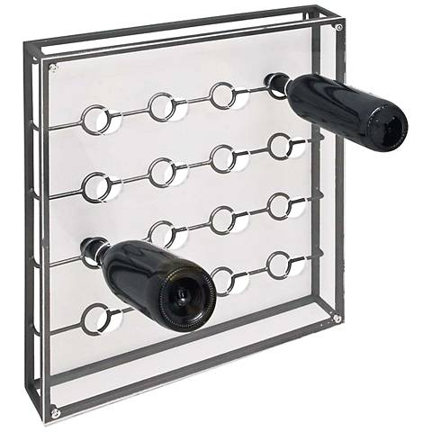 Arris Gray and Clear Short Wine Holder
