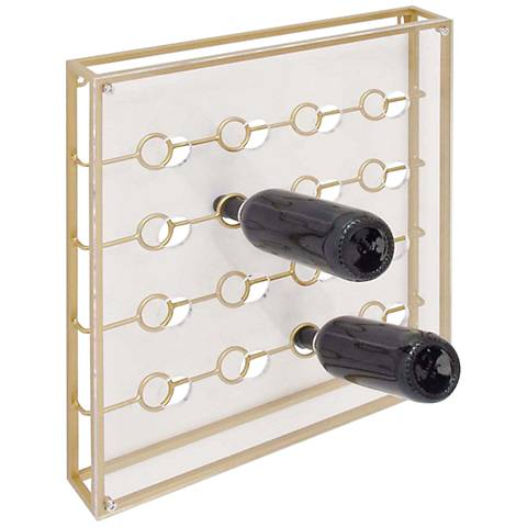 Arris Clear and Gold Short Wine Holder