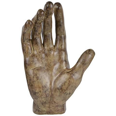 "Grasp 14"" High Brown Decorative Statue"