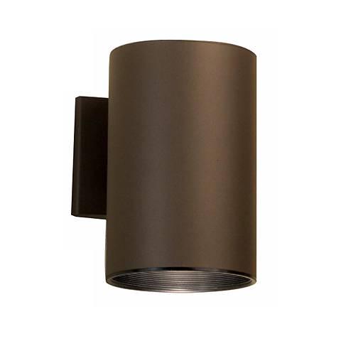 "Kichler Bronze 7 3/4"" High Outdoor Dark Sky Tube Lite"