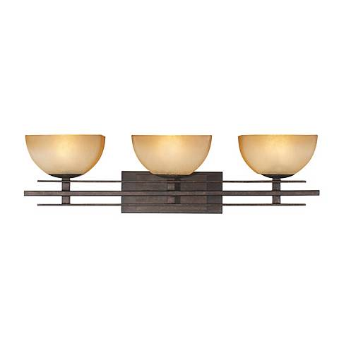 "Lineage Collection 28"" Wide Mission Bathroom Light Fixture"
