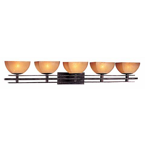 """Lineage Collection 48 1/4""""W Iron Oxide 5-Light Bath Light"""