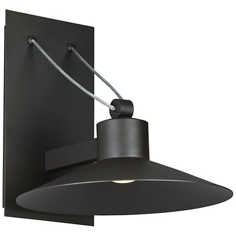 """Civic 8 1/4""""H Architectural Bronze LED Outdoor Wall Light"""