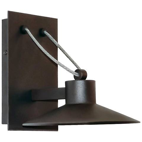 "Civic 13 3/4""H Architectural Bronze LED Outdoor Wall Light"