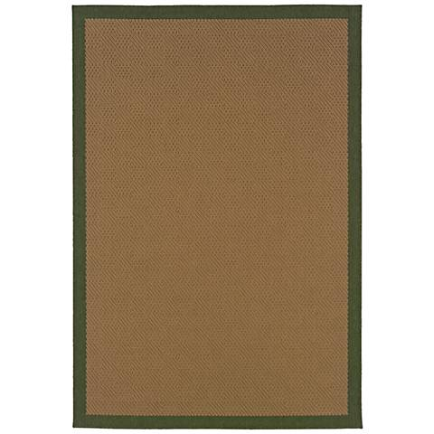 Lanai 525G6 Beige and Green Outdoor Area Rug