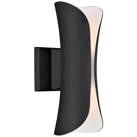 """Scroll 13 1/2""""H Architectural Bronze LED Outdoor Wall Light"""