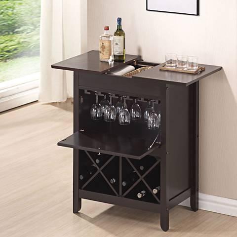 Leo Wenge Wine Bar Cabinet