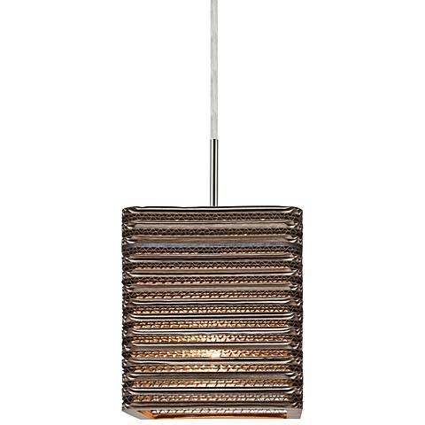 """Besa Kirk 6"""" Wide Satin Nickel LED Mini Pendant"""