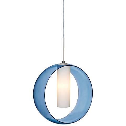 "Besa Plato 12"" Wide Satin Nickel Mini Pendant"