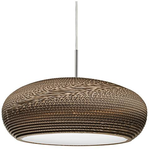 """Besa Venus 17 3/4"""" Wide Satin Nickel LED Pendant Light"""