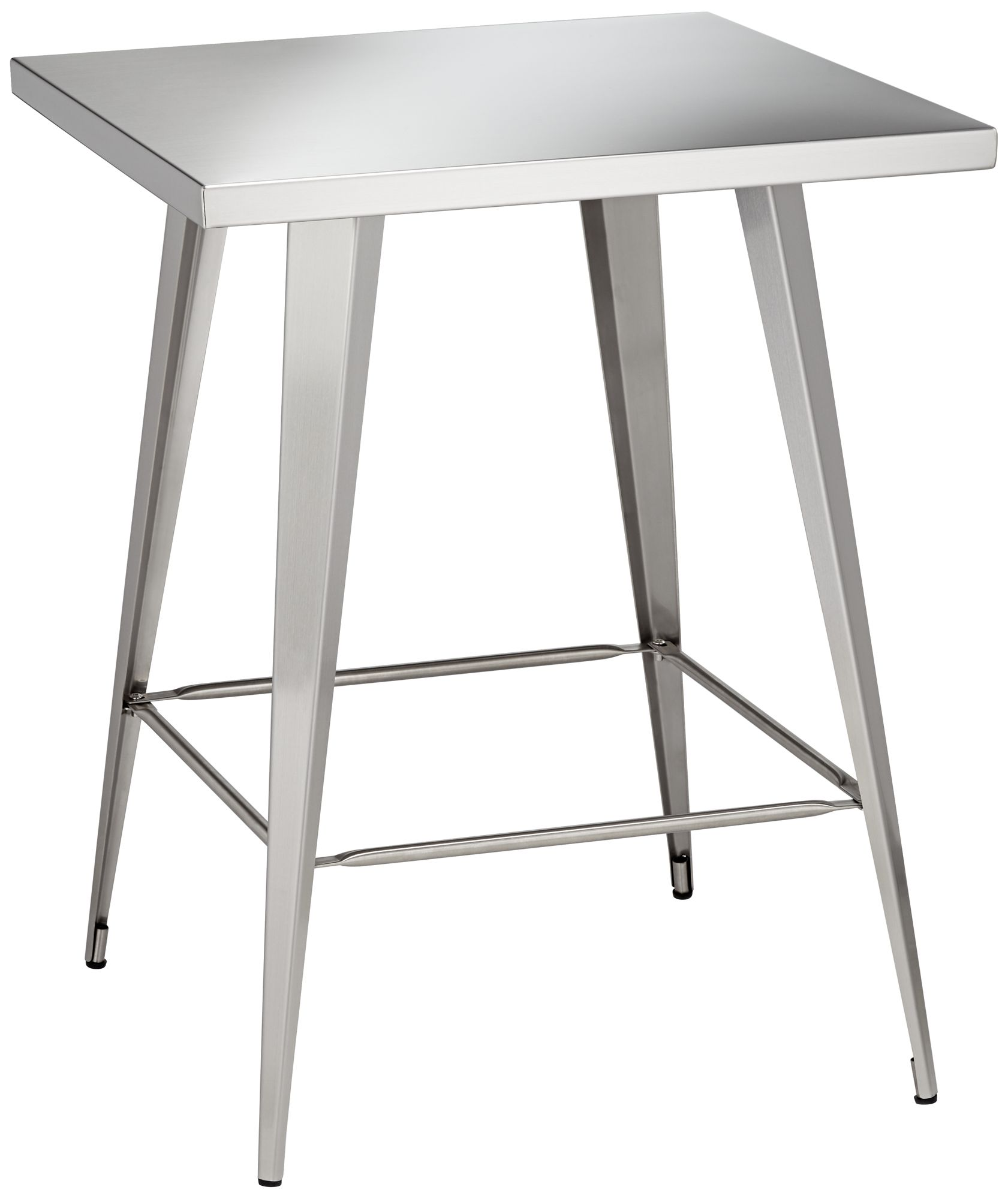 Captivating Penny Stainless Steel Counter Table
