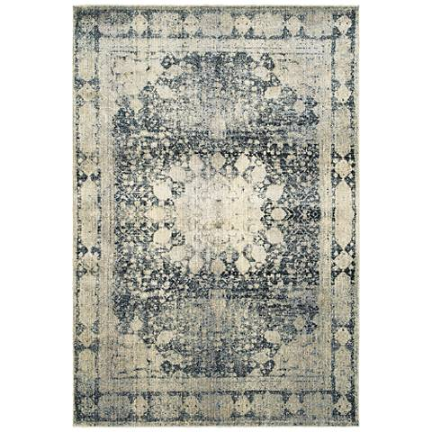 Empire 4445S Ivory and Blue Area Rug