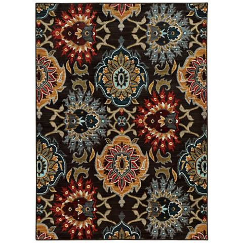 Sedona 6369D Multi-Color Gray Floral Area Rug