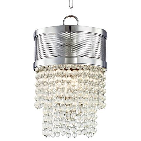 "Harrison 12 1/4"" Wide Polished Nickel Pendant Light"