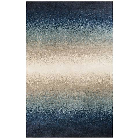 Madison 3401 Blue Ocean Elements Shag Area Rug