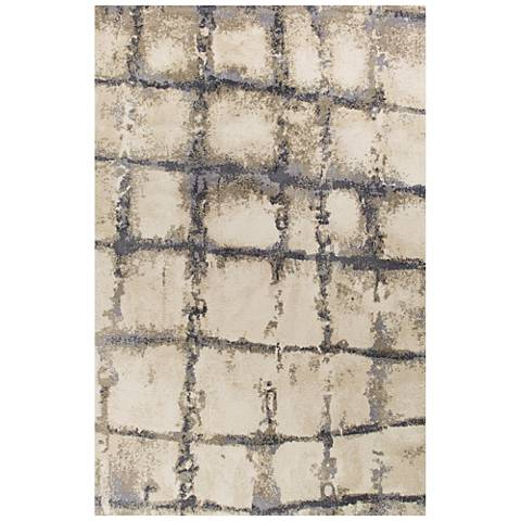 Madison 3405 Ivory and Gray Dimensions Shag Area Rug