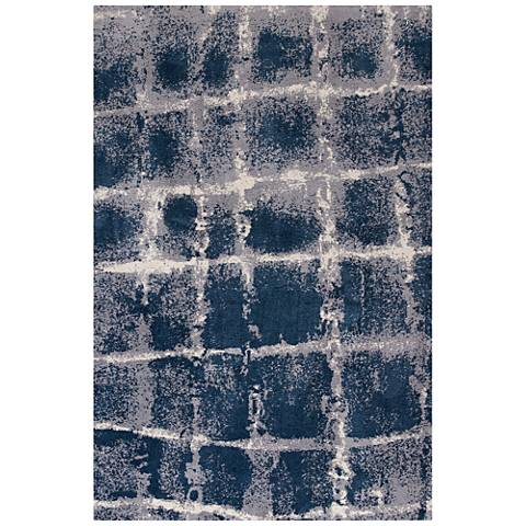 Madison 3416 Navy and Ivory Dimensions Shag Area Rug