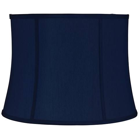 Navy Blue Morrell Drum Lamp Shade 14x16x12 (Spider)