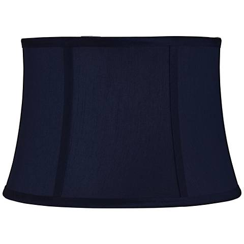Navy Blue Morrell Drum Lamp Shade 10x12x8 (Spider)
