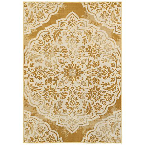 Jayden 7422F Gold and Ivory Area Rug