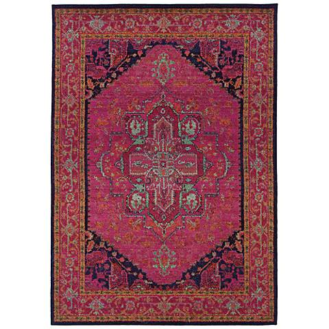 Kaleidoscope 1332S Pink and Blue Area Rug