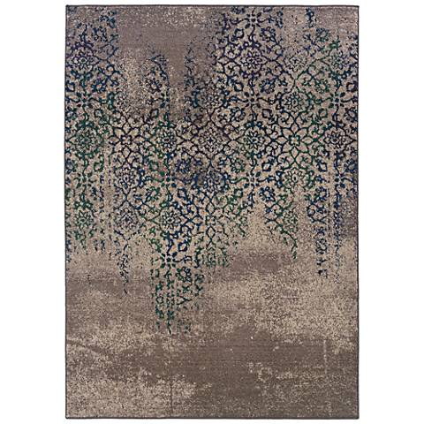Kaleidoscope 504D5 Gray and Blue Area Rug