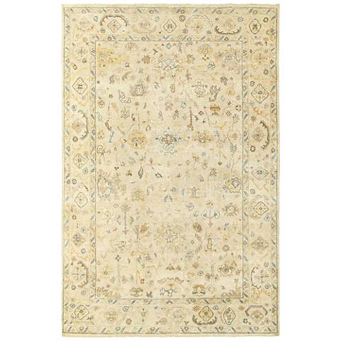 Palace 10301 6'x9' Beige and Gray Indoor-Outdoor Area Rug