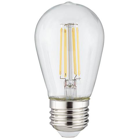 Clear 4 Watt ST14 Dimmable LED Outdoor Party Light Bulb