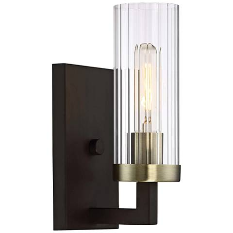 "Ainsley Court 10 1/2"" High Aged Kinston Bronze Wall Sconce"