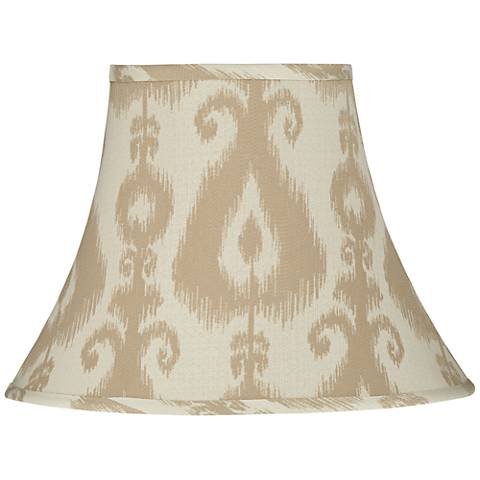 Qinghai Beige Oval Bell Lamp Shade 6/8x11/16x12 (Spider)
