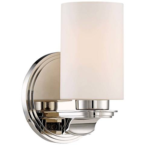 "Arrondir 8 3/4"" High Polished Nickel Wall Sconce"