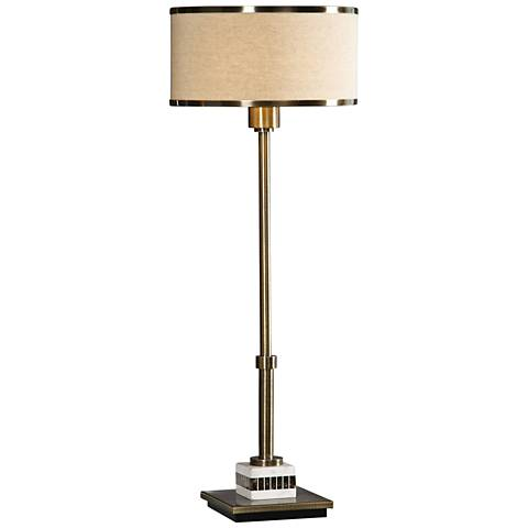 Uttermost Koronia Antique Brass Buffet Table Lamp