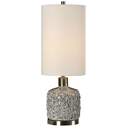 Uttermost Privola Gray Ceramic Buffet Table Lamp